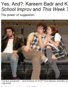 Kareem Badr and Kaci Beeler of After School Improv and This Week Tonight, The Onion's AV Club, January 2009