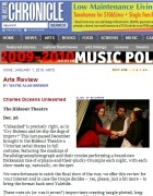 Arts Review: Charles Dickens Unleashed!, Austin Chronicle, December 2009
