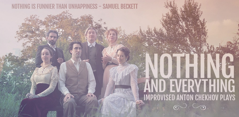 Photograph of cast of Nothing and Everything outside. Improvised Chekhov