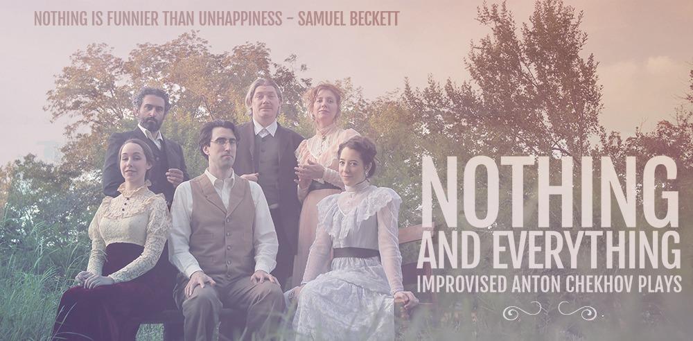 Photograph of cast of Nothing and Everything outside. Improvised Chekhov