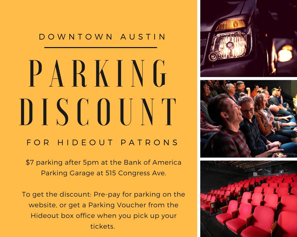 Parking – Austin Improv Comedy Shows, Classes – The Hideout