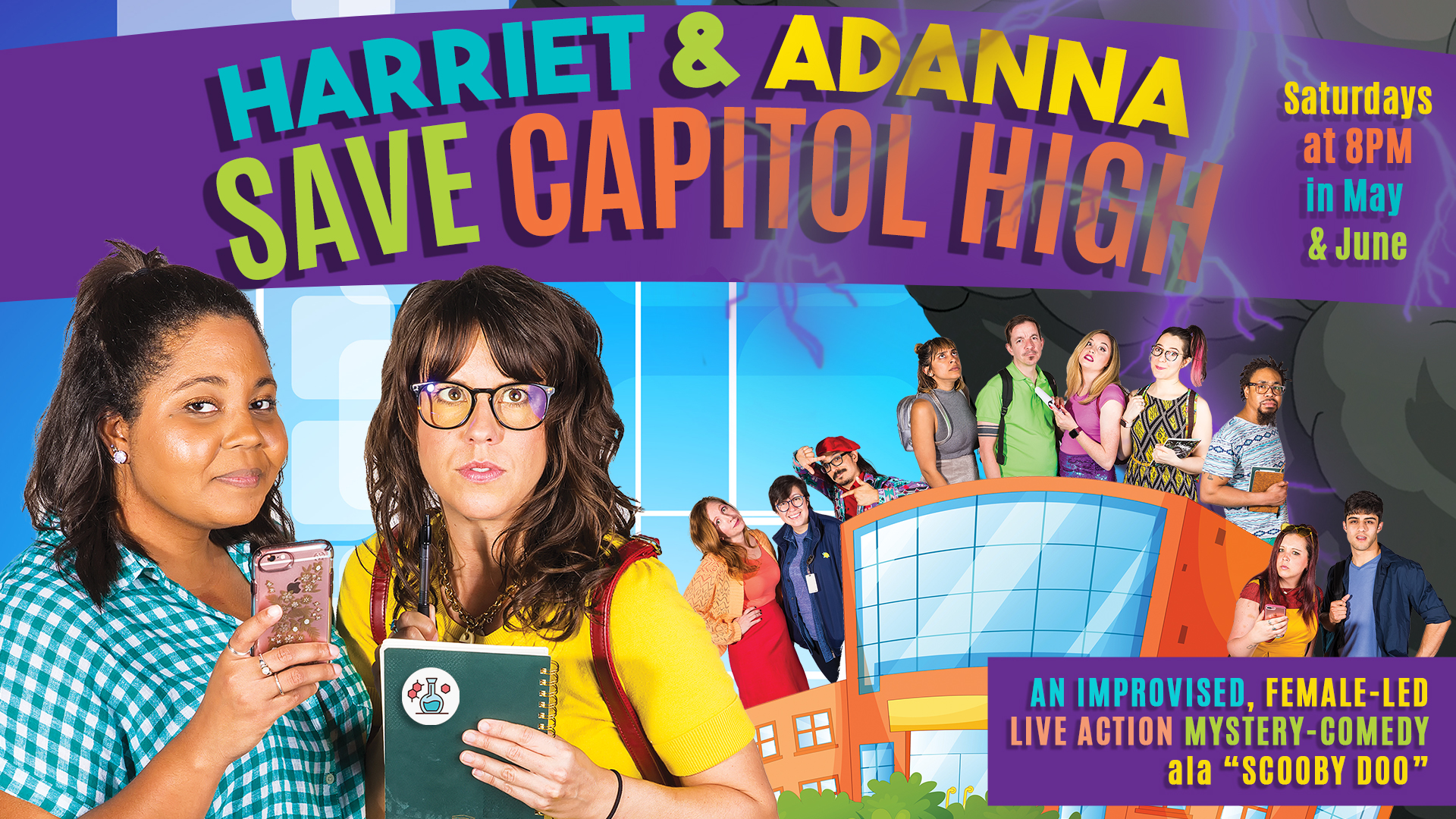 Harriet and Adanna Save Capitol High « Austin Improv Comedy